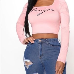 Boujee Chic Square Neck Top - Pink